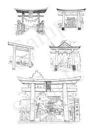 神社の解剖図鑑 エクスナレッジ刊 鳥居 イラスト 鉛筆画 下北沢