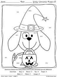 Small Picture 1st grade math coloring worksheets halloween Google Search