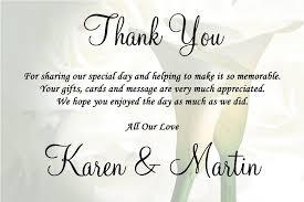 wedding program thank you sayings