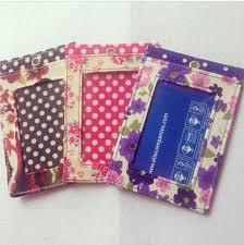 Designer Bus Pass Holder Id Card Holder From Fabric Fabric Scraps Sewing Tutorials