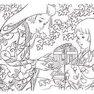 時代物日本画風大人の塗り絵教室 高齢者の方向け My介護の