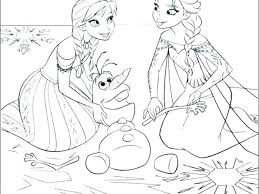 Frozen Coloring Pages Free Anna Printable Disney Christmas Pdf Page