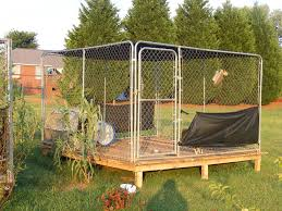 outdoor dog pen flooring