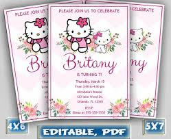 Hello Kitty Party Invitation Hello Kitty Invitation Hello Kitty Party Hello Kitty Invite Hello Kitty Birthday Hello Kitty Birthday Invitation Hello Kitty Printable