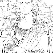 These unicorn coloring pictures can be colored pink, blue, black and even multicolored. Free Art History Coloring Pages Famous Works Of Art