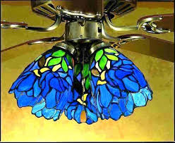 full size of stained glass ceiling fan light shades s fans iris blue green lamp lighting