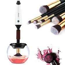 makeup cleaner machine. makeup brush cleaner rechargeable, arino professional brushes and dryer machine - wash dry in seconds with 7 rubber