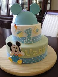 Download Baby Mickey Mouse 1st Birthday Cakes Abc Birthday Cakes
