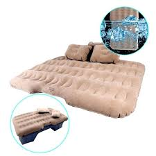 travel bedding inflatable car air mattress camping travel bed back seat extended pump 2 pillows travel