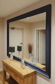 extra large black wall mirror wooden