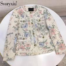 <b>Svoryxiu</b> Designer <b>Autumn Winter</b> luxurious Sequin White Overcoat ...