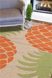 orange green area rug jaipur coastal i o pina colada indoor outdoor pattern