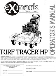exmark lawn mower turf tracer hp user guide manualsonline com exmark turf ranger service manual at Exmark 1800 Wiring Diagram