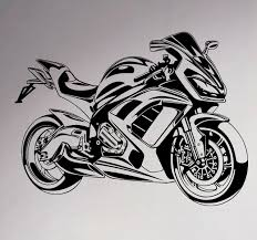 sport bike wall vinyl decal motorbike sticker removable garage decor teen club home interior bedroom cool on motorbike wall art australia with sport bike wall vinyl decal motorbike sticker removable garage decor