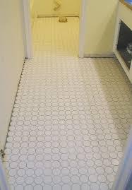 good white mosaic bathroom floor tile ideas