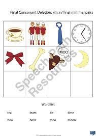 Final Consonant Deletion | Download Categories | Speech Path Resources
