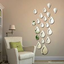 Small Picture Water Drops Raindrop Shape Acrylic Mirror Wall Sticker Living Room