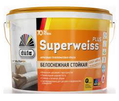 <b>Краска</b> для стен и потолков акриловая <b>Dufa Retail Superweiss</b> ...