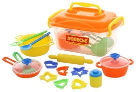 <b>Набор</b> посуды Полесье <b>20 элементов</b> в контейнере 56634 ...