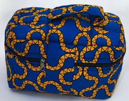 african ankara print makeup bag