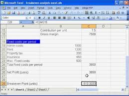 How To Do A Breakeven Chart In Excel Breakeven Analysis In Excel