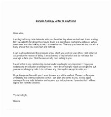 Letter Of Personal Apology Unique Apology Examples [sample Apology Letter To Your Boss] Sample Apology
