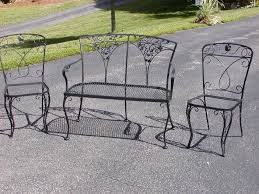 wrought iron patio chairs with spring