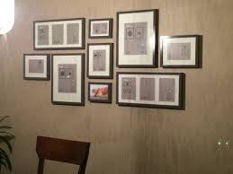 Gallery Wall Layout. IKEA Ribba frames in grey