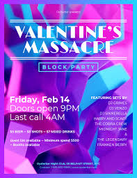 Block Party Flyers Templates Block Party Valentines Day Party Flyer Template