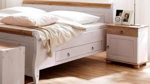 Schlafzimmer Oslo 4 Tlg Set Kiefer Massiv Weiß Antik Mit Schweber