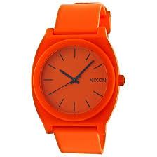 nixon men s and women s watches 55 99 for nixon men s time teller watch orange rubber band orange dial a119 156 75 list price