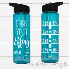 Drink Your Effing Water 24 Oz Flip Top Water Bottle With Straw Water Tracker Chart Bpa Free Water Intake Funny Motivation