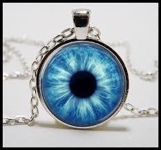 blue eye necklace glass eye jewelry eye