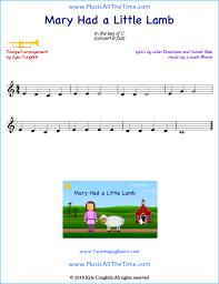 Flute traditional flute traditional flute free sheet music mary had a little lamb. Mary Had A Little Lamb Trumpet Sheet Music