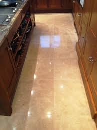 Travertine Kitchen Floors Travertine Kitchen Floor Stripped And Resealed In Wilmslow