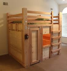 image of loft bed plans storage