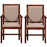 wooden chairs with arms. Delighful Chairs Shilpi Sheesham Wood Arm Cushioned Comfort Chair Set Of 2 PCsWooden Dining  With Wooden Chairs Arms