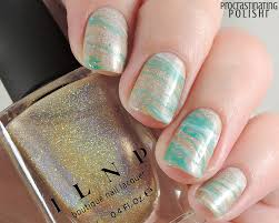Marbled gold nail art | ILNP 'I See You' - Procrastinating Polishr