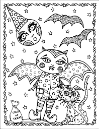 Instant Download Halloween Coloring Pages 5