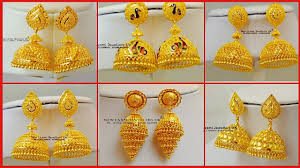 Latest Gold Jhumka Earrings Design With Price In India Top 30 Jhumka Earrings Designs Best Earrings Collection