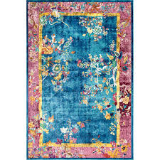 nuloom nia fl chinese art deco blue 5 ft x 8 ft area rug