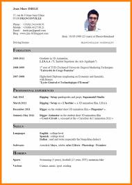 Cv English Example Pdf 4 Curriculum Vitae English Example Pdf
