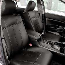 fh cm202102 1996 2002 honda accord sedans only leather black custom bucket seat covers front set airbag safe here to order