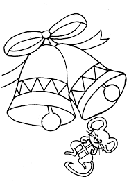 Mouse With Bells Coloring Pages To