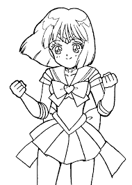 Small Picture Sailor Mercury Happy Sailor Moon Coloring Pages Pinterest