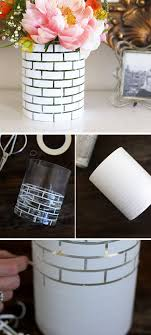diy white brick vase pic for 25 diy home decor ideas on a budget