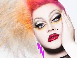 Redhead drag queen comedian