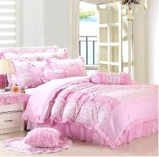 twin bed set for girl girls bedding sets pink lace princess past little