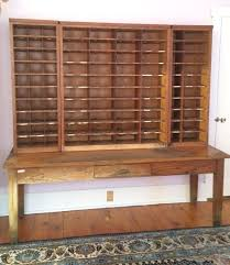 antique post office sorting desk apothecary cabinet vintage shelves storage rare antique furniture apothecary