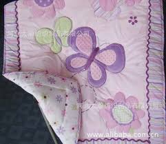 Wholesale-Appliqued Baby Quilt Nursery Comforter Cot Crib bedding ... & Wholesale-Appliqued Baby Quilt Nursery Comforter Cot Crib bedding for girl baby  butterfly animal and flower Designs pink purple mix order Adamdwight.com